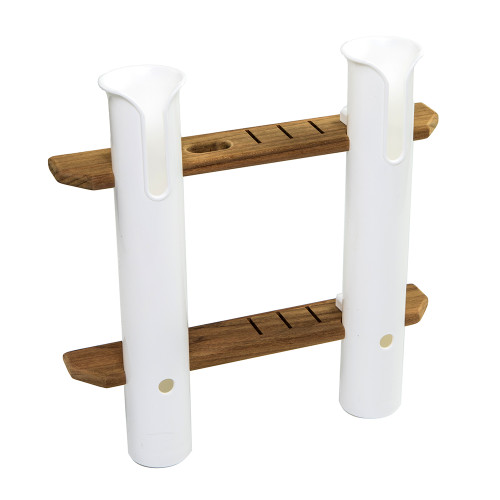 Whitecap Teak 2-Rod Tournament Storage Rack [63448]