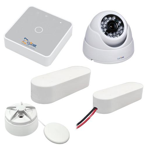 Glomex ZigBoat Starter Kit System w\/Camera - Includes Gateway, Battery, Flood, Door\/Porthole Sensor  IP Camera [ZB102]