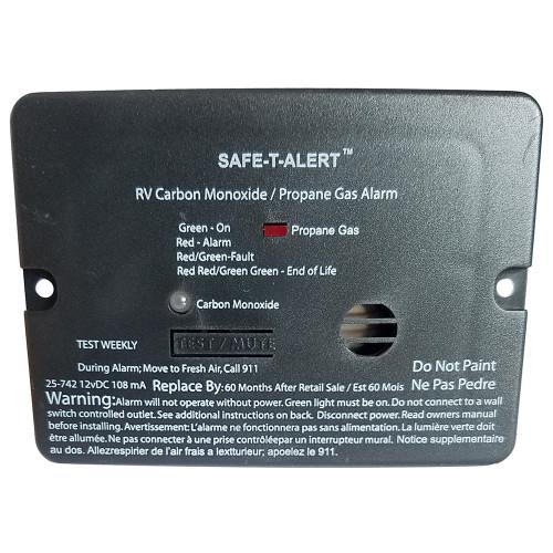 Safe-T-Alert Combo Carbon Monoxide Propane Alarm - Surface Mount - Mini - Black [25-742-BL]
