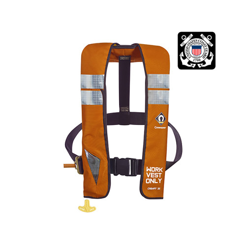Crewsaver Crewfit 35 Commercial Automatic Work Vest PFD [55-95050A]