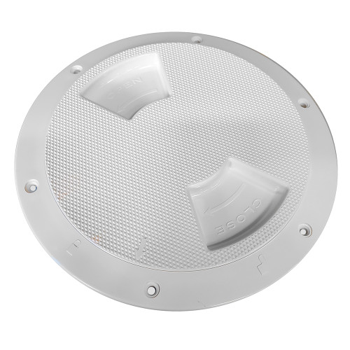 "Sea-Dog Quarter-Turn Textured Deck Plate w\/Internal Collar - White - 8"" [336382-1]"