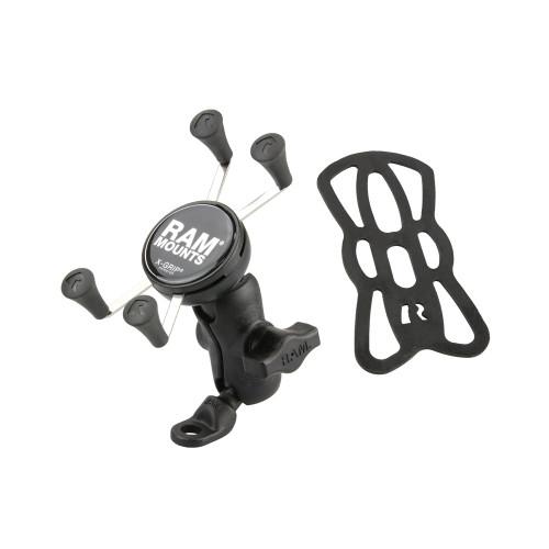 RAM MOUNT X-Grip Phone Mount w\/9mm Angled Bolt Head Adapter [RAP-B-272-A-UN7U]