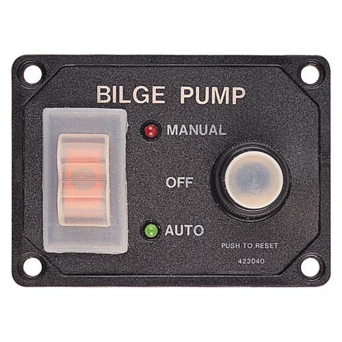 Sea-Dog Splash Guard Bilge Pump Panel w\/Circuit [423046-1]