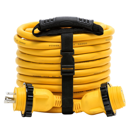 Camco 30 Amp Power Grip Marine Extension Cord - 50 M-Locking\/F-Locking Adapter [55613]