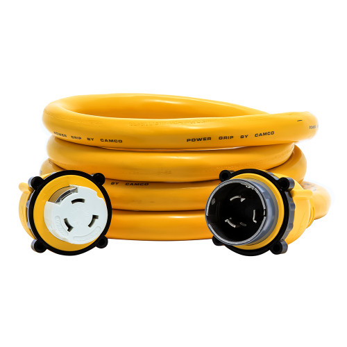 Camco 50 Amp Power Grip Marine Extension Cord - 12 M-Locking\/F-Locking Adapter [55620]