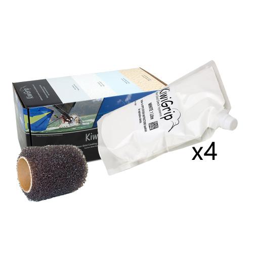 """KiwiGrip 4 - 1 Liter Pouches - White w\/4"""" Roller [KG-4WP-R]"""