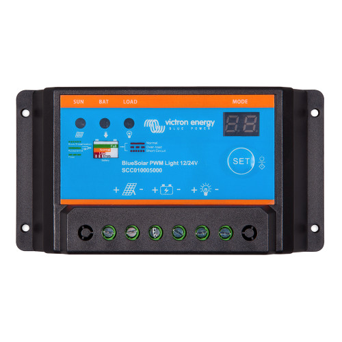 Victron BlueSolar PWM-Light Charge Controller - 12\/24V - 10AMP [SCC010010000]
