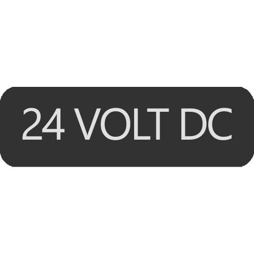 Blue Sea 8063-0010 Large Format 24 Volt DC Label [8063-0010]