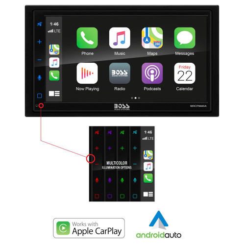 Boss Audio MRCP9685A Stereo w\/AM\/FM\/BT  Apple CarPlay [MRCP9685A]