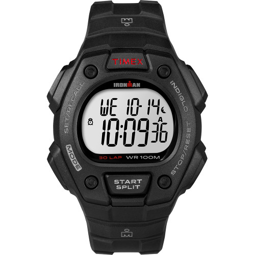 Timex IRONMAN Classic 30 Lap Full-Size Watch - Black\/Red [T5K822]