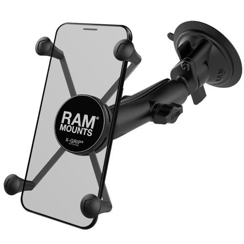 RAM Mount RAM X-Grip Large Phone Mount w\/RAM Twist-Lock Suction Cup Base [RAM-B-166-C-UN10U]