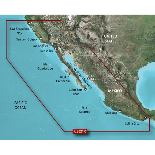 Garmin BlueChart g2 HD - HXUS021R - California - Mexico - microSD\/SD [010-C0722-20]