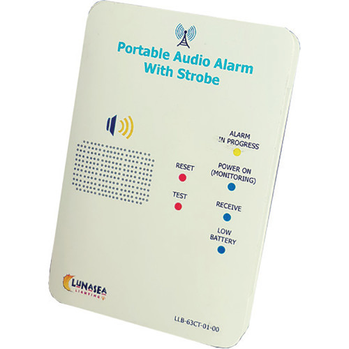Lunasea Controller f\/Audible Alarm Receiver w\/Strobe Qi Rechargeable [LLB-63CT-01-00]