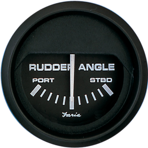 "Faria Euro Black 2"" Rudder Angle Indicator [12833]"