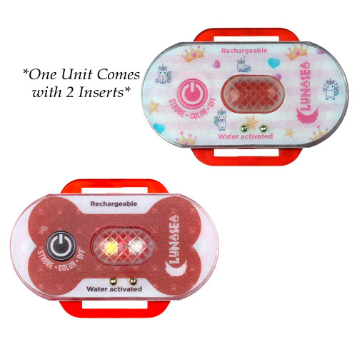 Lunasea Child\/Pet Safety Water Activated Strobe Light - Red Case, Blue Attention Light [LLB-70RB-E0-00]