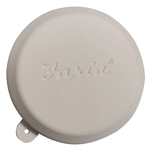 "Faria 2"" Gauge Weather Cover - White [F91401]"