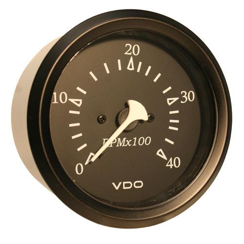 "VDO Cockpit Marine 85MM (3-3\/8"") Diesel Tachometer - 4000 RPM - Black Dial\/Bezel [333-11915]"