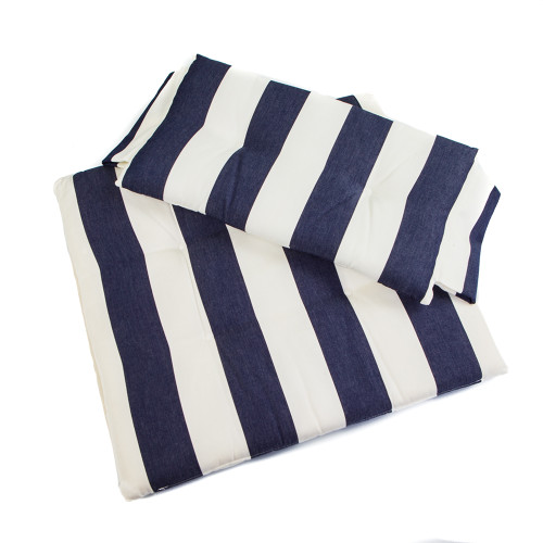 Whitecap Directors Chair II Replacement Seat Cushion Set - Navy  White Stripes [87240]