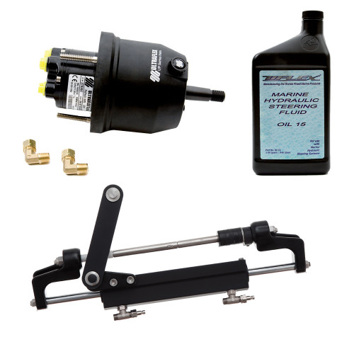 Uflex HYCO 1.1 Front Mount OB System up to 175HP - Includes UP20 FM Helm, 2qts of Oil, UC95-OBF Cylinder [HYCO 1.1]