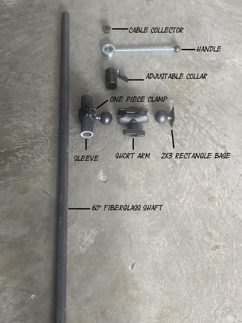 Poleducer Basic Short Ram Mount Arm
