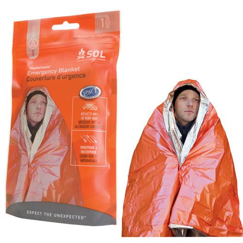 S.O.L. Survive Outdoors Longer Emergency Blanket [0140-1222]