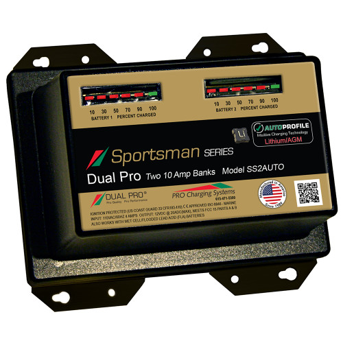 Dual Pro SS2 Auto 10A - 2-Bank Lithium\/AGM Battery Charger [SS2AUTO]