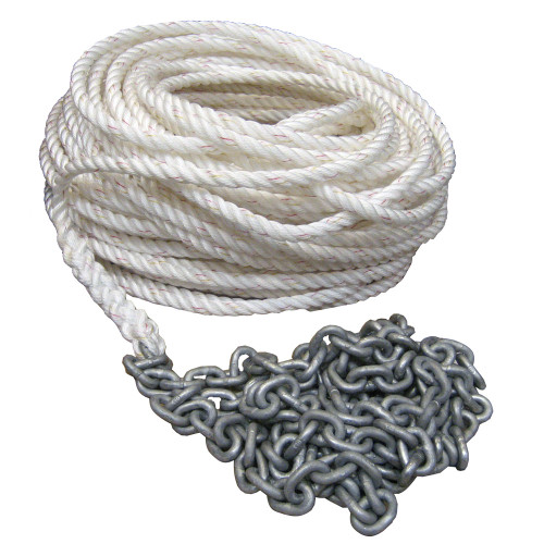 """Powerwinch  250' OF 5\/8"""" ROPE   20' OF 5\/16"""" HT Chain Rode [P10299]"""