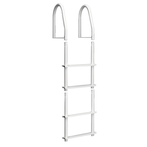 Dock Edge Fixed 4 Step Ladder Bright White Galvalume [2104-F]