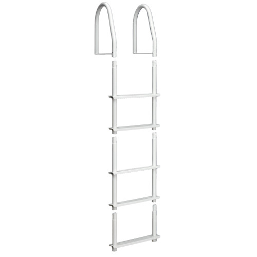 Dock Edge Fixed 5 Step Ladder Bight White Galvalume [2105-F]