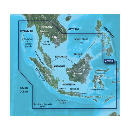 Garmin BlueChart g2 HD - HXAE009R - Singapore \/ Malaysia \/ Indonesia - microSD \/ SD [010-C0884-20]