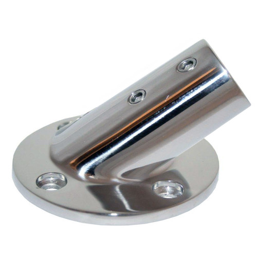 "Whitecap "" O.D. 30 Degree Round Base SS Rail Fitting [6077C]"