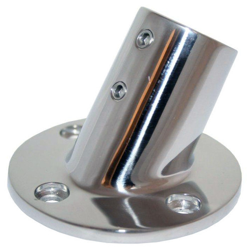 "Whitecap "" O.D. 60 Degree Round Base SS Rail Fitting [6040C]"