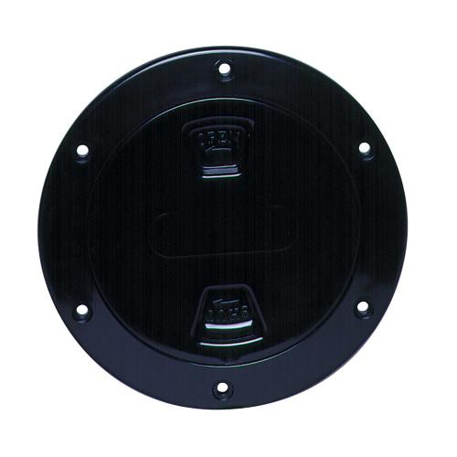 "Beckson 4"" Smooth Center Screw-Out Deck Plate - Black [DP40-B]"