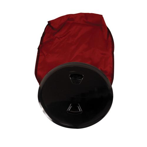 """Beckson 5"""" Stow-Away Deck Plate - Black w\/12"""" Bag [DP50BB]"""