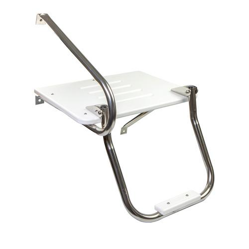 Whitecap White Poly Swim Platform w\/Ladder f\/Outboard Motors [67902]