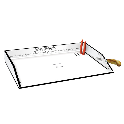 "Magma Bait\/Filet Mate Serving\/Cutting Table - 20"" White\/Black [T10-302B]"