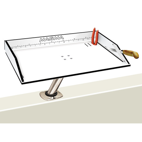 "Magma Bait\/Filet Mate Table w\/LeveLock Mount - 20"" - White\/Black [T10-312B]"