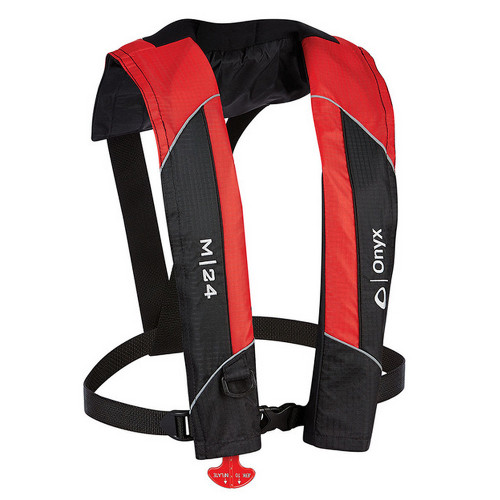 Onyx M-24 Manual Inflatable Life Jacket PFD - Red [131000-100-004-15]