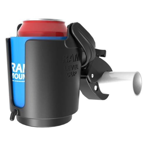 RAM Mount Tough-Claw Mount w\/Self-Leveling Cup Holder [RAM-B-132-400U]