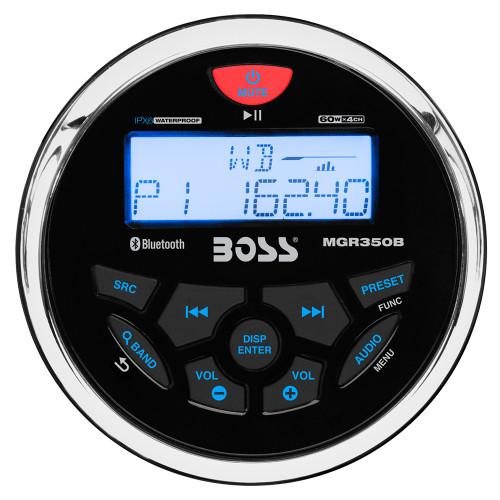 Boss Audio MGR350B Marine Gauge Style Radio - MP3\/CD\/AM\/FM\/RDS Receiver [MGR350B]