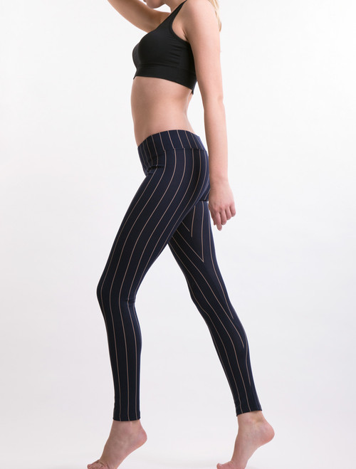 FINE STRIPE LEGGINGS
