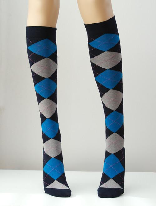 Argyle Knee Socks - Socks & Underwear TESS