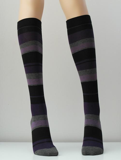 Stripe Knee High Socks - Socks & Underwear TESS