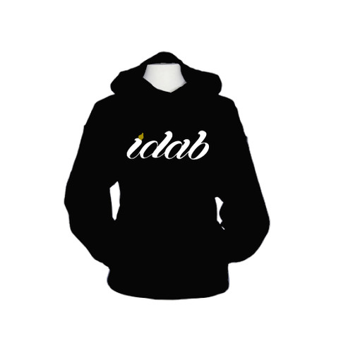 Iconic black iDab Glass Pullover Hoodie