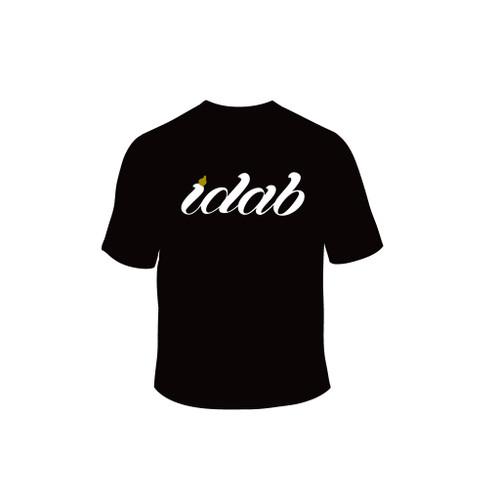 Iconic black iDab Glass t-shirt