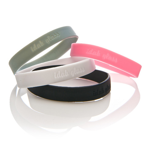 iDab Glass Wristbands with a portion of proceeds going to helpful charities