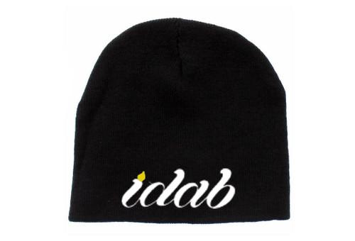 Iconic Black Flat iDab Beanie