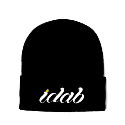 Iconic Black iDab Folded Beanie