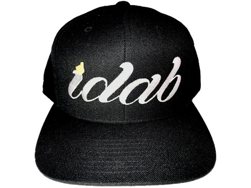 Iconic black iDab Snapback Hat