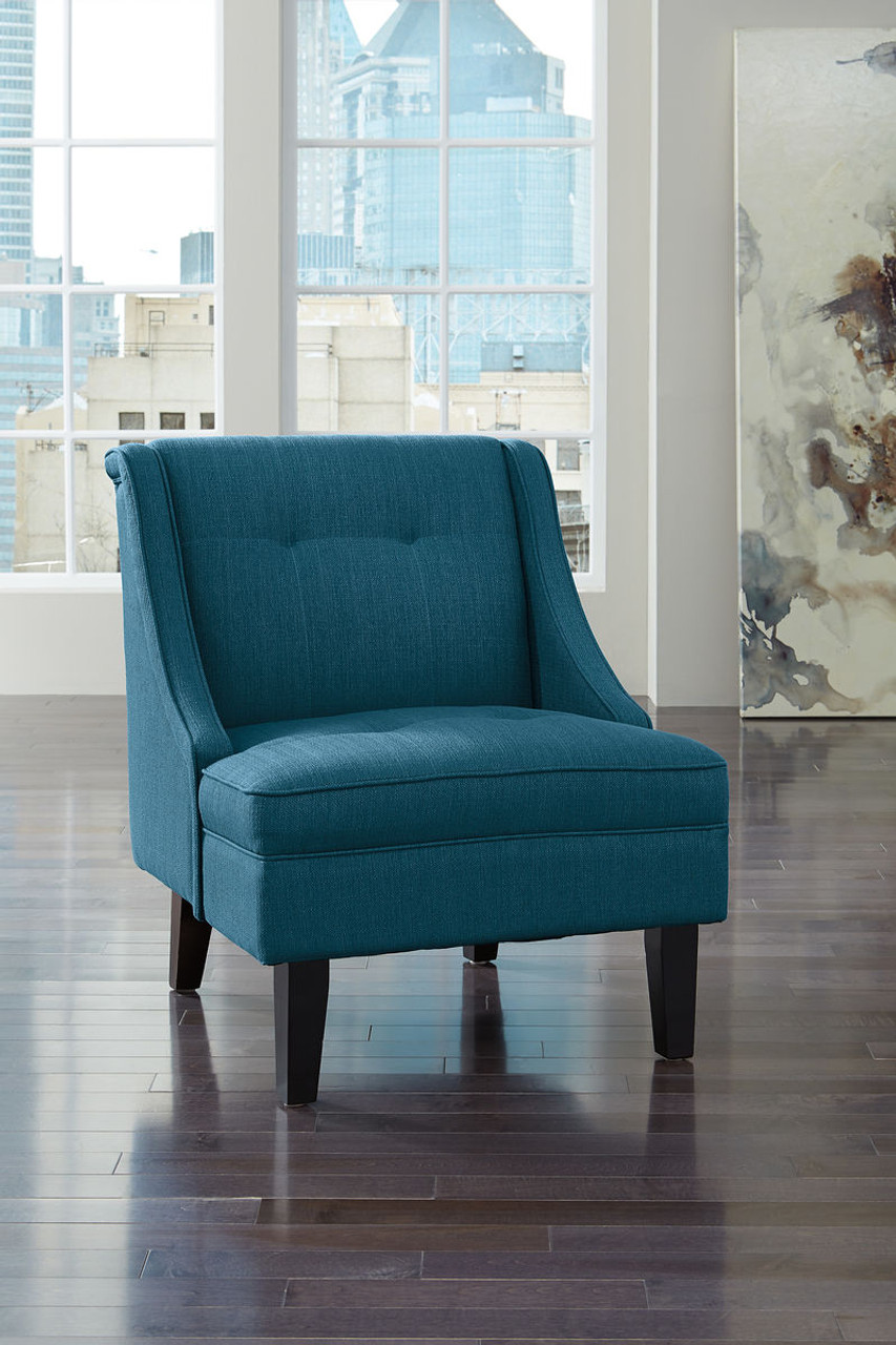 The Clarinda Blue Accent Chair Available At Affordable Furniture